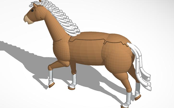 3d design horse tinkercad