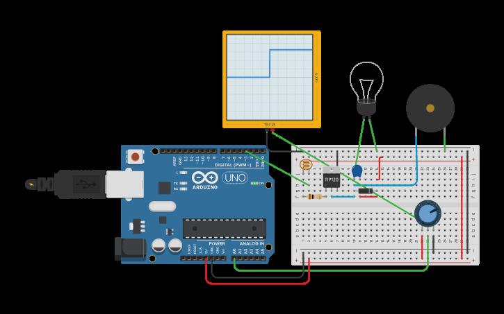 Circuit design PWm arduino | Tinkercad