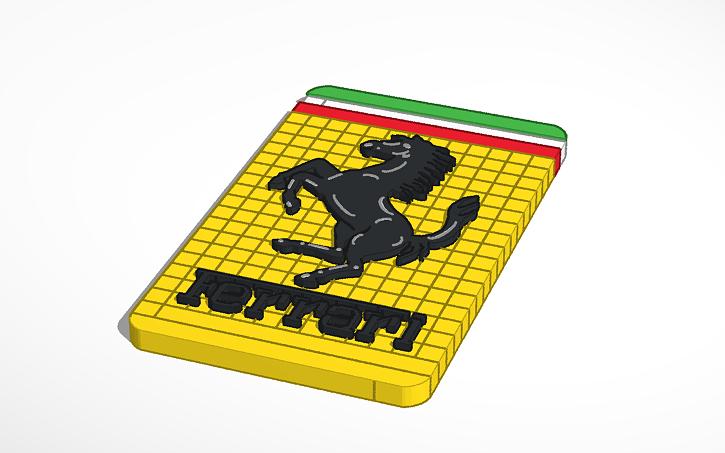 3d design ferrari logo tinkercad
