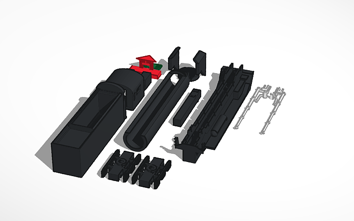 3D design QJ steam train accessories (N)   Tinkercad