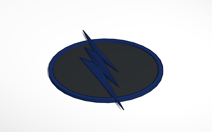 Zoom Cw Flash Symbol Tinkercad