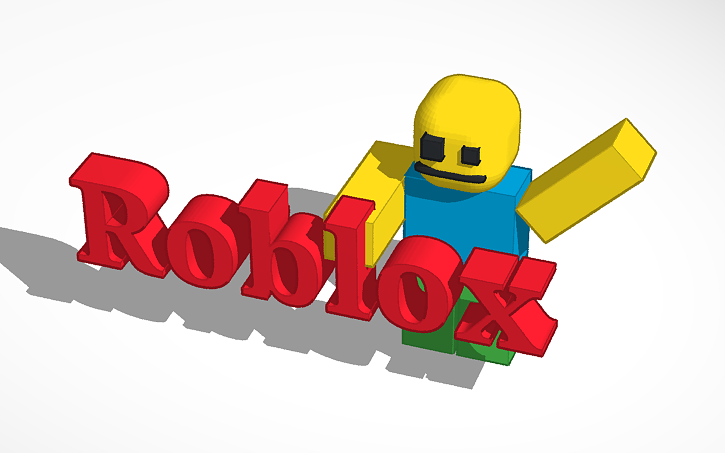 3d design epic roblox logo and player tinkercad