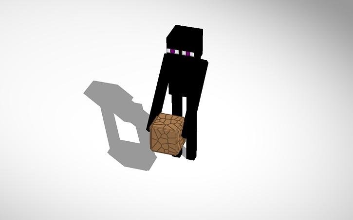 3d Design Minecraft Enderman Tinkercad