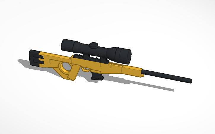 Bolt Action Sniper Rifle Fortnite Tinkercad