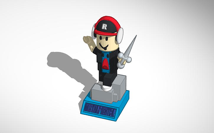 My Roblox Character In A Great Pose Tinkercad