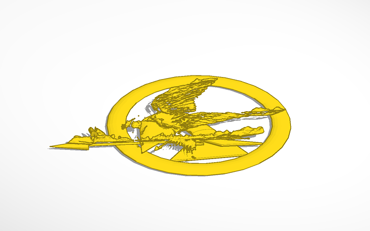 The Hunger Games Symbol Tinkercad
