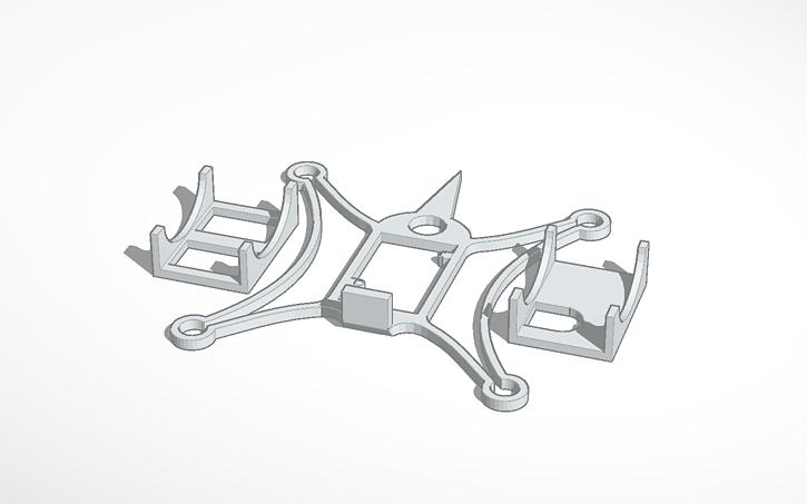 3D design fpv quadcopter frame - 7mm motors - ladybird - husban ...