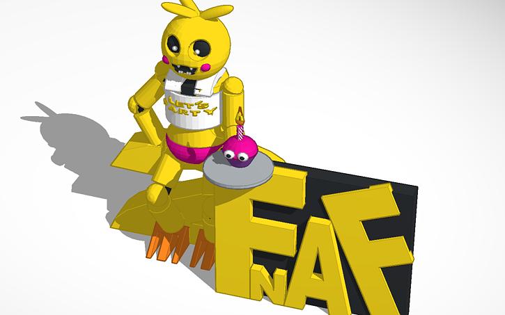 3D design FNAF 2 Toy chica   Tinkercad