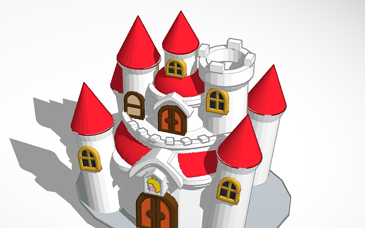 3d Design Princess Peach S Castle Finished Find Cappy