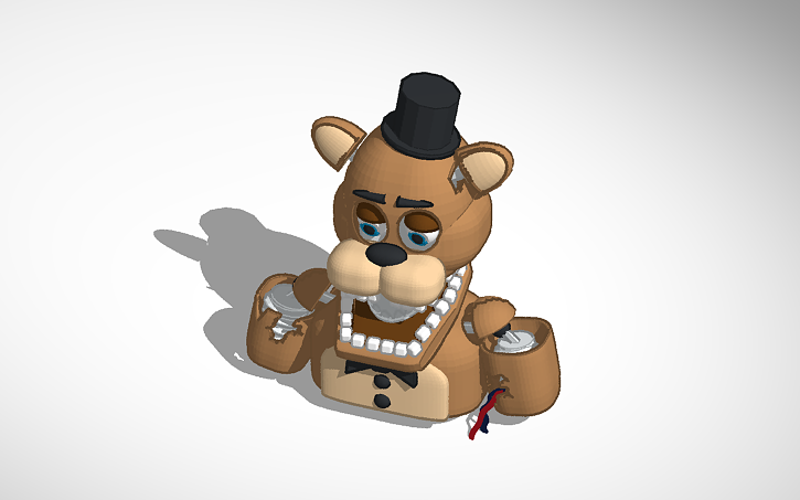 3D design Withered Freddy FNaF 2 | Tinkercad