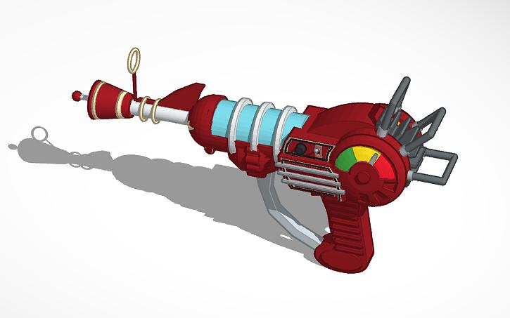 3d design ray gun tinkercad Tinkercad 3d