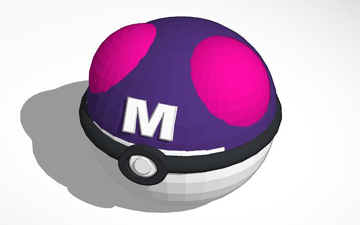 3D Design Copy Of Pokemon Master Ball