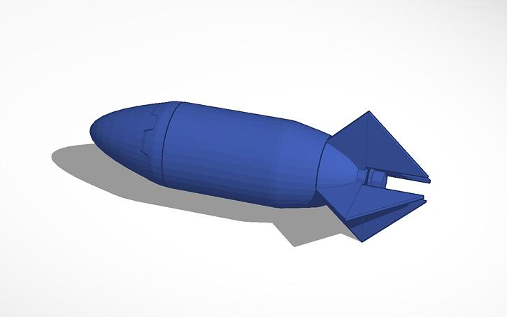 3D design 2 Liter Bottle Rocket   Tinkercad