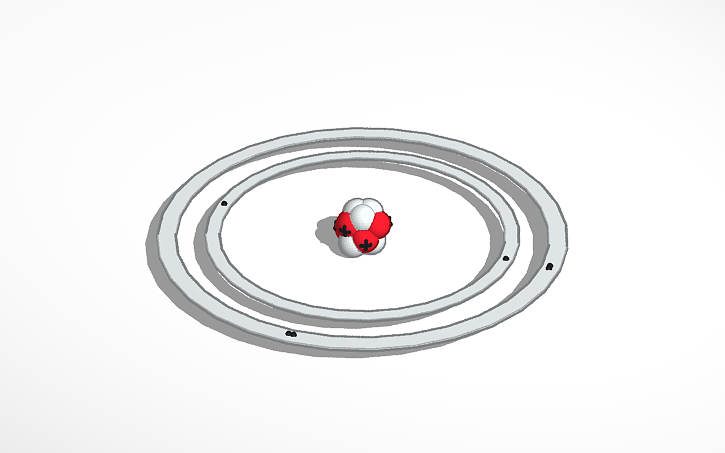 3d Design Updated Carbon Bohr Model Tinkercad