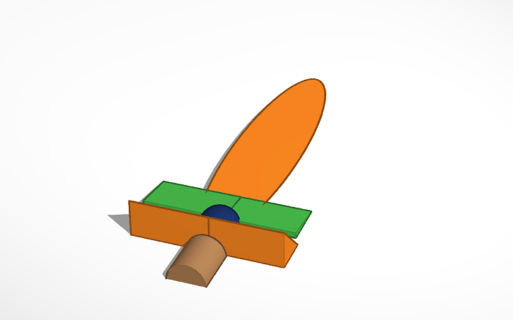 3d Design Wooden Sword From Zelda 1 Tinkercad