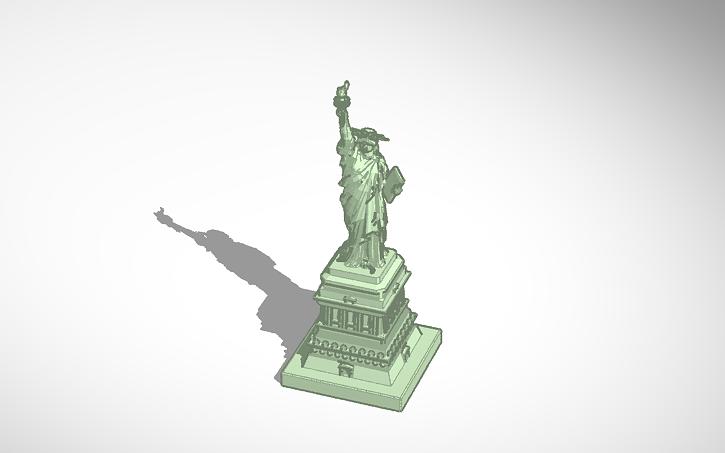 3d design statue of liberty tinkercad