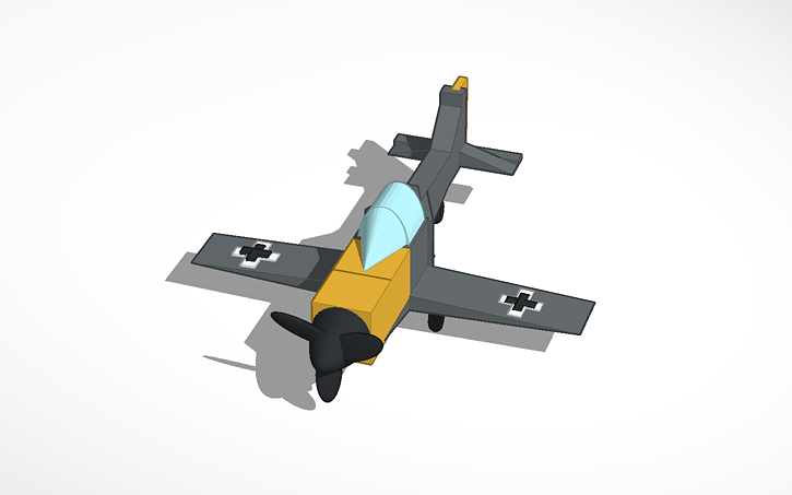 3D design Fighter plane   Tinkercad