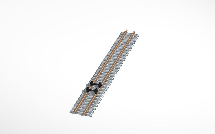 3D design Train Track Meter Gauge v2 0   Tinkercad