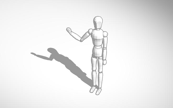 3D design Posing Mannequin #template | Tinkercad