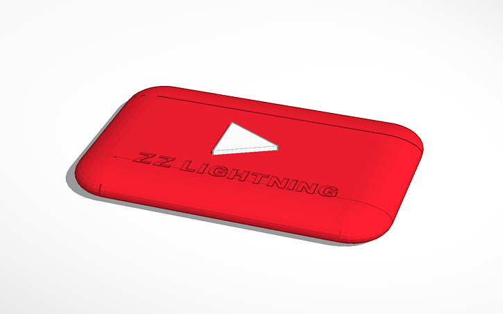 3D design YouTube logo | Tinkercad