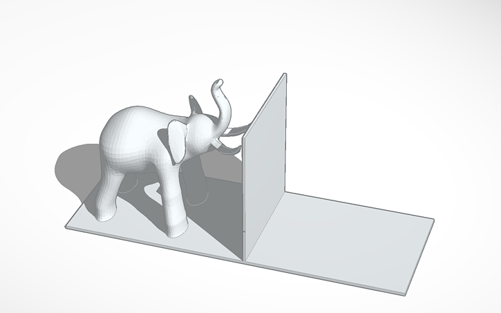 3D design Elephant bookends | Tinkercad