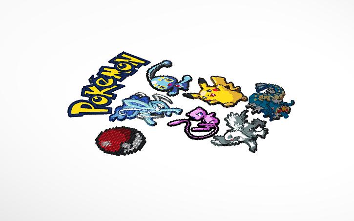3d Design Lit Pokemon Pixel Art Tinkercad