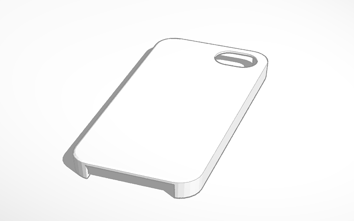 3d Design Iphone 5 Case Template Tinkercad