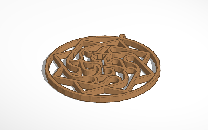 3D design Slavic amulet   Tinkercad