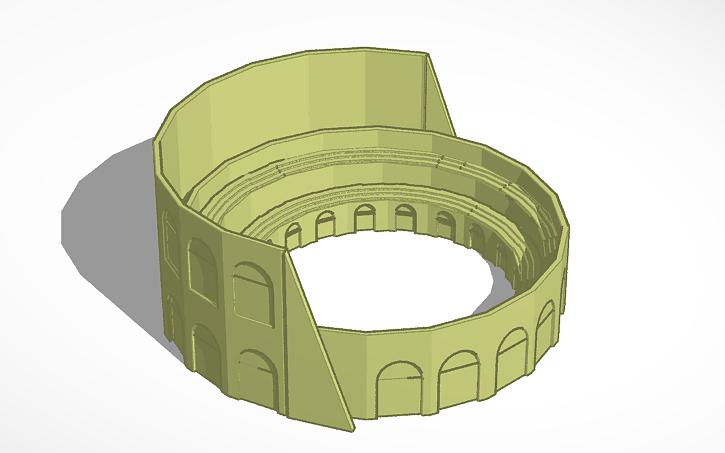 3d Design Coliseo Romano Tinkercad