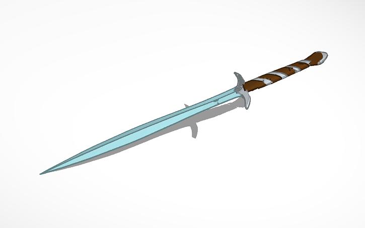 3D design Frodo's sword Sting | Tinkercad