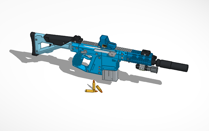 3D design Copy of HALO Assault rifle   Tinkercad