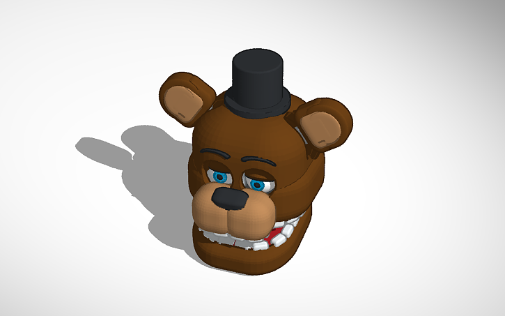 3D design Withered Freddy Head | Tinkercad