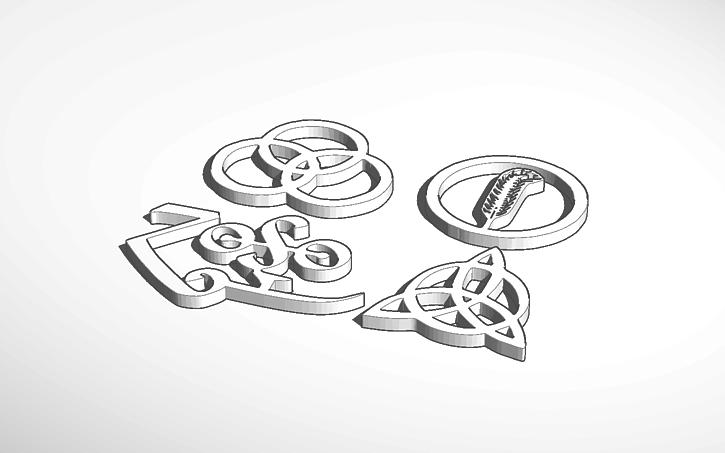 3d Design Led Zeppelin Symbols Tinkercad