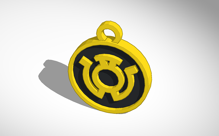 3d Design Sinestro Corps Yellow Lantern Pendant Tinkercad