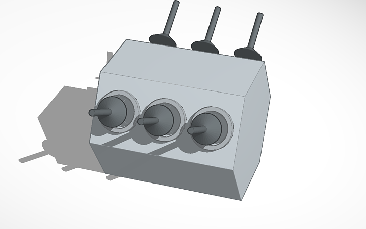 3D design Tinkercad Motors simple V6 (with pistons) WARNING
