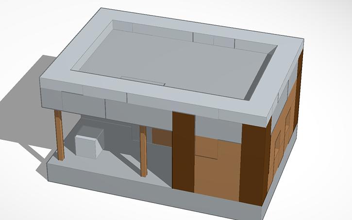 3D design minecraft village blacksmith | Tinkercad
