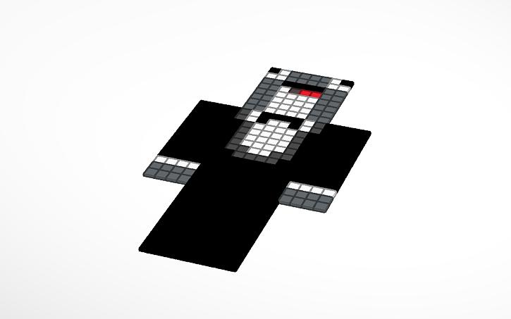 3D design Child Dolphin Minecraft Skin | Tinkercad