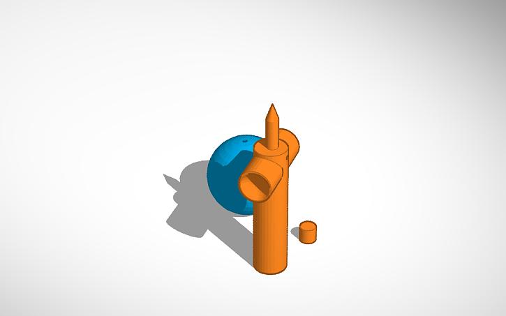 3D design big kendama | Tinkercad