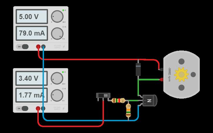 Circuit design Raspberry Pi GPIO fan control | Tinkercad