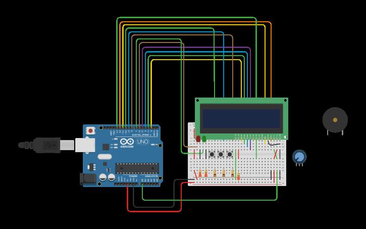 Circuit design alarm clock | Tinkercad