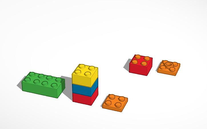 3d design piezas lego tinkercad - Piezas lego gigantes ...