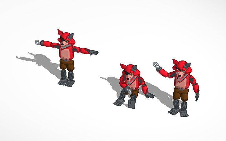 Copy Of Withered Foxy Tinkercad