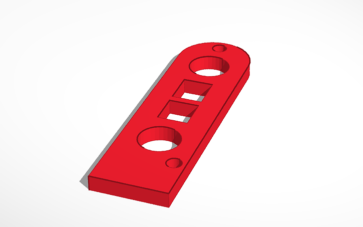 3D design Pen Servo Holder Bearing Plate | Tinkercad