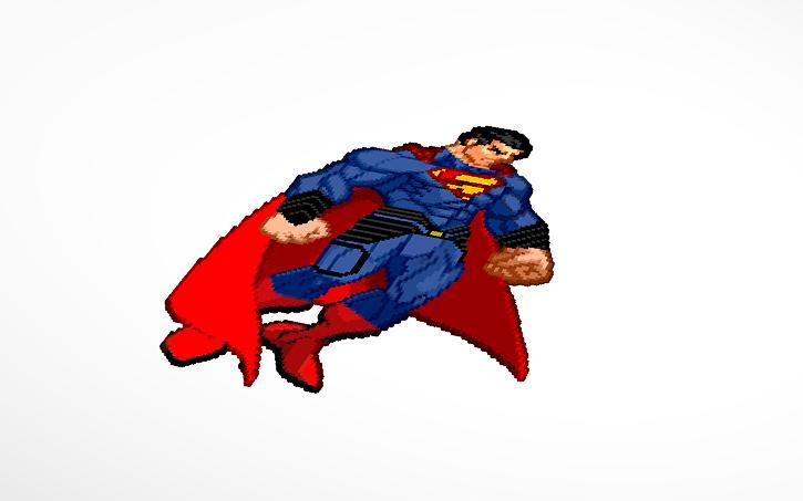 3d Design Man Of Steel Pixel Art Tinkercad