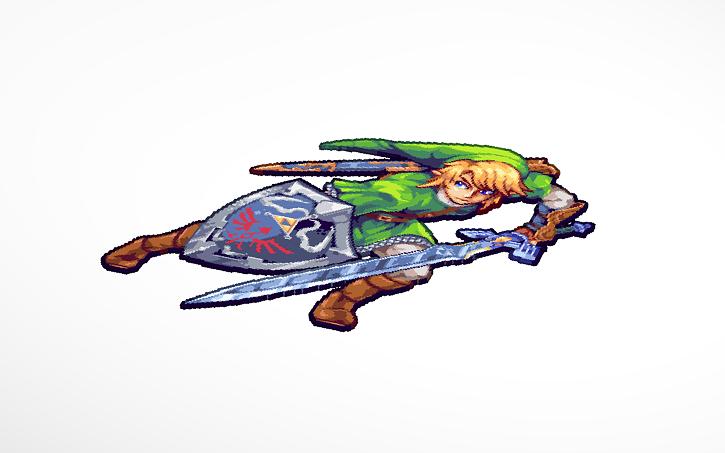 3d Design Link Legend Of Zelda Ocarina Of Time Pixel Art