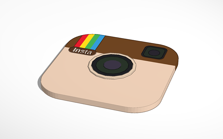 3d Design Instagram Icon Tinkercad