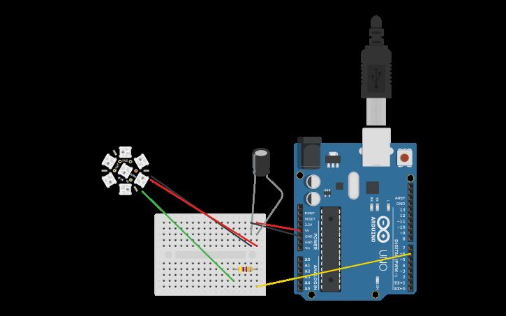 Circuit design Neopixel Jewel to Arduino Wiring Diagram