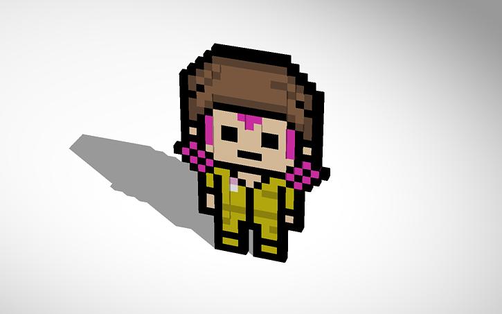 3d Design Danganronpa 2 Kazuichi Pixel Art Tinkercad