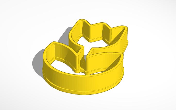 3D design flower cookie cutter II | Tinkercad