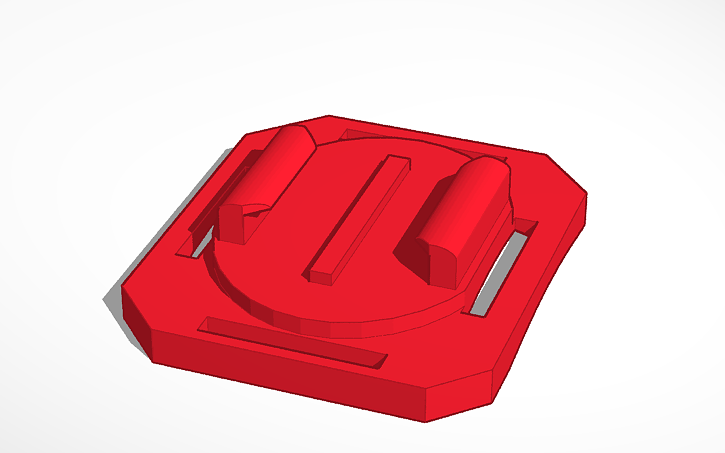 3d Design Go Pro Mount For Hero Sessions Tinkercad